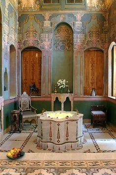 The Suleiman the Magnificent Suite at Beit Al Mamlouka, a seventeenth-century house turned hotel in Damascus's Old City