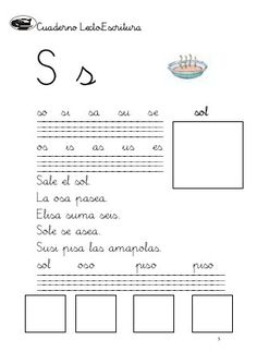 Cuaderno de lectoescritura i (1)(1) Spanish, 5 Years, Activities, Reading Strategies, Word Reading, Read And Write, Reading Books, Learning, Gaming