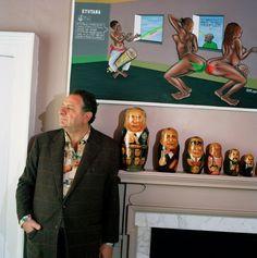 JEAN PIGOZZI  Art collector. Albany House, London, 2008
