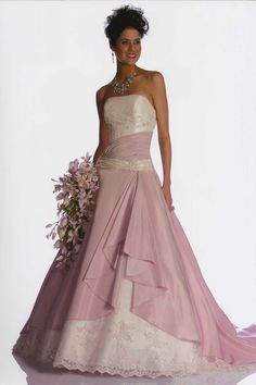 Wedding Dresses with Color | Here's another pink bridal gown that you may love. From Raylia ...