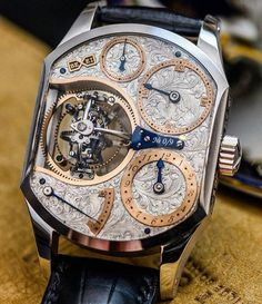 I've never seen this one before... Unfortunately.. The Primus Triple Axis Tourbillon designed by Aaron Becsei a very talented hungarian horologist pic by @abtw_david by watchfeed