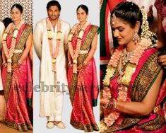 Sneha Reddy-Allu Arjun Wedding,Sabyasachi saree