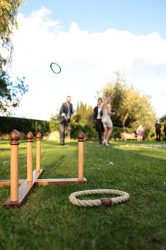 Playing quoits at a wedding