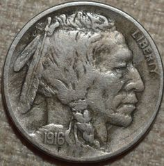 1916-D 5C Buffalo Nickel Fine KM 134-FREE USA SHIP-FN