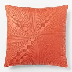 Most of the chain store pillows are no longer available, so I'm pinning some other options: Embroidered Starburst Pillow Cover in Bergamot | West Elm (like that it's solid color with some texture)