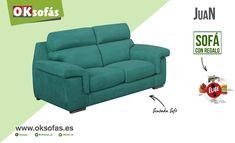 Modelo Juan, un sofá práctico de sentada suave. ¡Sofá con regalo! www.oksofas.es/folleto #sofás #descanso #decoración #modelojuan #oksofás