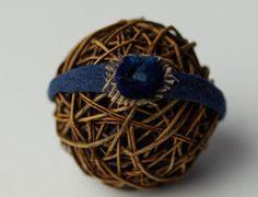 Blue Newborn headband by CrownedCreationsShop on Etsy