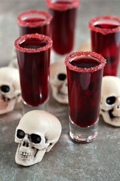 Calling all pop culture enthusiasts — this Walking Dead-themed drink is to die for. Plus, when you whip up this recipe with red wine and pomegranate juice, it creates the perfect blood red shade to spook all of your Halloween party guests. Click through for the recipe and more Halloween cocktails.