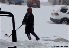 Me trying to shovel snow like…