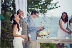Dominican Republic Wedding | Cassandra + Brian | Trevor Dayley Photography. Aww embracing the rain on their wedding day  www.trevordayley.com