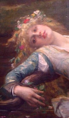 Ophelia (detail), 1883, by Alexandre Cabanel (1823–1889). Oil on canvas | Private collection