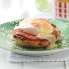 Eggs Benedict Recipe from Taste of Home -- shared by Rebecca Baird of Salt Lake City, Utah
