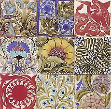 William Morris prints  De Morgan Tile, by William Morris and William De Morgan, late 1800s