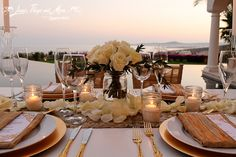 White and Gold private dinner at Villa Paradiso Perduto in Fundadores! Stunning!