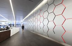 Great light & graphic wall - Rio Tinto Regional Centre in Brisbane, Australia by Geyer