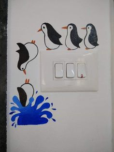 board painting -Switch board painting - Cool Easy Drawing Tips in 2019 Dog Hanging Light Switch Decal Cover - Light Switch Decal, Wall Sticker, Wall Decal Vinyl Art in var Panda Wall Decals Panda Light Switch Decal Simple Panda Simple Wall Paintings, Creative Wall Painting, Creative Wall Decor, Wall Painting Decor, Creative Walls, Diy Wall Art, Diy Wall Decor, Decor Room, Diy Wand