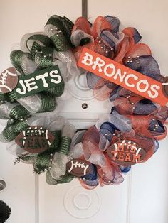 His and Hers Sports Theme Wreath  A house divided by mahyahyvee