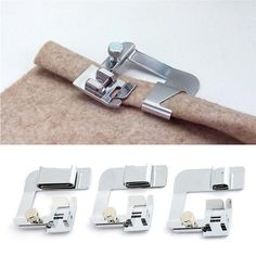 """3pcs Rolled Hem Presser Foot Set ATTENTION! Dressmaker, tailor, seamstress, designer FINISH THAT PROJECT using our 3pcs Rolled Hem Presser Foot Set! Comment """"YES"""" and we will send you a coupon code! Get yours now! http://bit.ly/2En5Sjf"""
