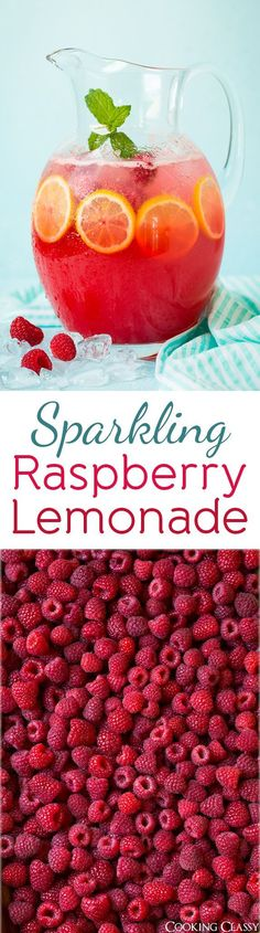 Sparkling Raspberry Lemonade - this is so vibrant and refreshing, I could drink…