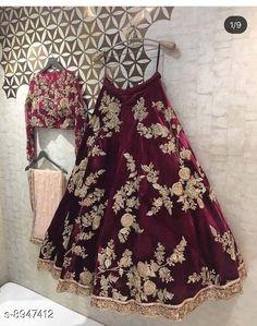 Lehengas RB EXPORT PALK Topwear Fabric: Velvet Bottomwear Fabric: Velvet Dupatta Fabric: Net Set type: Choli And Dupatta Top Print or Pattern Type: Embroidered Bottom Print or Pattern Type: Embroidered Dupatta Print or Pattern Type: Lace Sizes:  Free Size (Lehenga Waist Size: 40 in Lehenga Length Size: 46 in Duppatta Length Size: 2.5 m)  Country of Origin: India Sizes Available: Free Size, Semi Stitched   Catalog Rating: ★4.2 (486)  Catalog Name: Aagyeyi Petite Women Lehenga CatalogID_1539757 C74-SC1005 Code: 3561-8947412-9992
