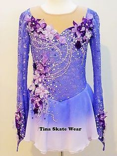 CUSTOM MADE TO FIT ICE FIGURE SKATING /BATON /TWIRLING COSTUME