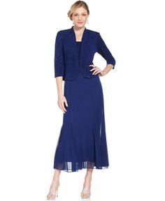 Alex Evenings Petite Sleeveless Glitter Gown and Jacket