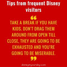 Find more tips from frequent Disney visitors at this blog post! - Disney in your Day
