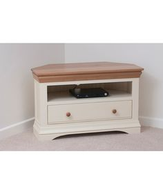 country cottage natural oak and painted corner tv cabinet is a perfect furniture for your - White Corner Tv Stands