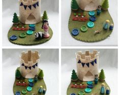 Special listing for Angi set 2Pink Castle Turret by MyBigWorld2015