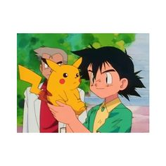 Pokemon ;; Ash and Pikachu ❤ liked on Polyvore featuring pokemon