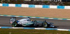Jerez spain Mercedes Petronas. testing