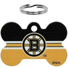"NHL Boston Bruins Bone Engravable Pet ID Tag by Football Fanatics. $11.95. Boston Bruins Bone Engravable Pet ID TagMeasures 1"" x 1.5""Ring includedMetal bodyTeam logo and colorsOfficially licensed NHL productMetal bodyMeasures 1"" x 1.5""Ring includedTeam logo and colorsOfficially licensed NHL product"