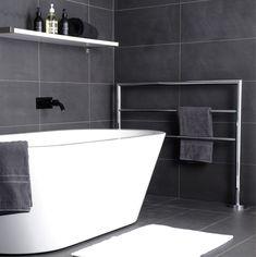 Free Standing Towel Rail, Bathroom Showrooms, Minimalist Design, Chrome, Bathtub, Flooring, Sydney, Standing Bath, Minimal Design