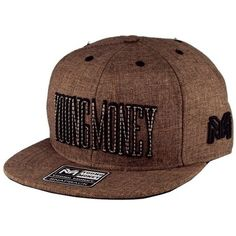 d95d4fe827d0d Boné Young Money Aba Reta Snapback Marrom