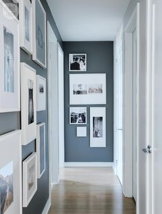 Gallery Walls |  The end of a hallway is the perfect spot for a tall, narrow gallery  @Style at Home