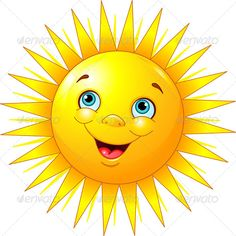 Buy Smiling Sun by Dazdraperma on GraphicRiver. Illustration of smiling sun character.