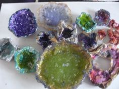 home made rock candy geodes