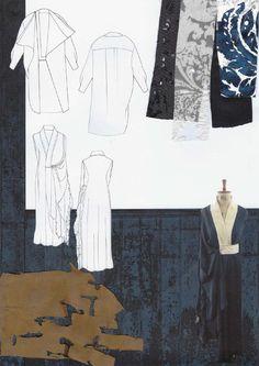 Fashion Sketchbook - fashion drawings & distressed texture research; fashion portfolio // Amanda Svart