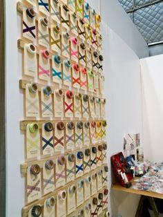 I love this washi tape display from Sweet Bella via Oh So Beautiful Paper Shop Window Displays, Store Displays, Booth Displays, Retail Displays, Jewelry Displays, Craft Organization, Craft Storage, Organizing, Washi Tape Storage