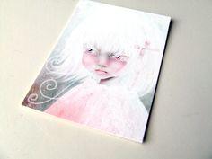 "ACEO/ATC Artists Trading Card - ""Vocal"" - Mini Giclee Print 2.5""x3.5"" - Portrait Illustration by Jessica Grundy. $3.00, via Etsy."
