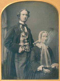 Husband & Wife, ca. 1840s-50 – costume cocktail