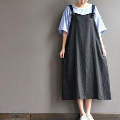Cotton material strap dress