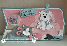 Cat Cards, Kids Cards, Marianne Design Cards, Shape Art, Die Cut Cards, Animal Cards, Crazy Cats, Banners, Card Stock