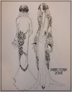 Joanne Fleming Design: 'Couture Brighton'; the story of a design....original illustration for the 'Beardsley' coat