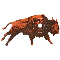 Zielscheibe Büffel Zielscheibe speziell für Pfeile mit Saugnäpfen. Material: Sperrholz  Target Buffalo A target designed for arrows with suction cups. Plywood  www.Helga Kreft.de
