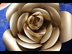 Round Pattern: Gold Paper Rose PART 1 - YouTube