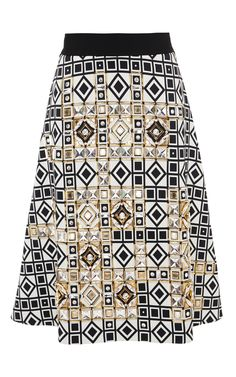 Embellished A-Line Skirt by Fausto Puglisi for Preorder on Moda Operandi