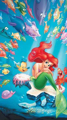 47 Ideas wall paper disney little mermaid wallpapers for 2019 Ariel Disney, Princesa Ariel Da Disney, Disney Pixar, Disney Princess Art, Cute Disney, Disney Art, Disney Movies, Disney Characters, Disney Ideas