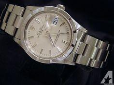 Rolex Date Watch Quickset Stainless Steel