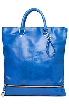D&G - blue leather tote